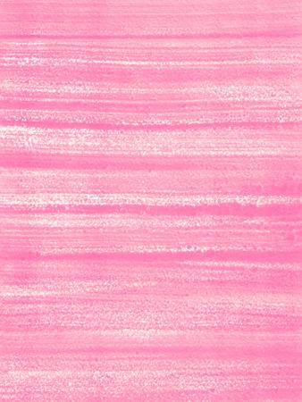 추상 손으로 그려진 된 배경 또는 질감입니다. 브러시 줄무늬 또는 줄무늬가있는 핑크색 아크릴 필.