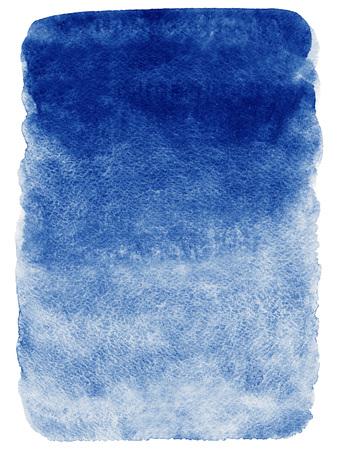 ネイビー ブルー水彩抽象背景。グラデーションの塗りつぶし。手描きのテクスチャです。大まかなエッジ。 写真素材