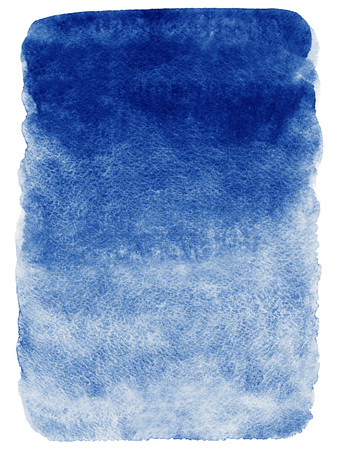 Navy blue watercolor abstract background. Gradient fill. Hand drawn texture. Rough edges.