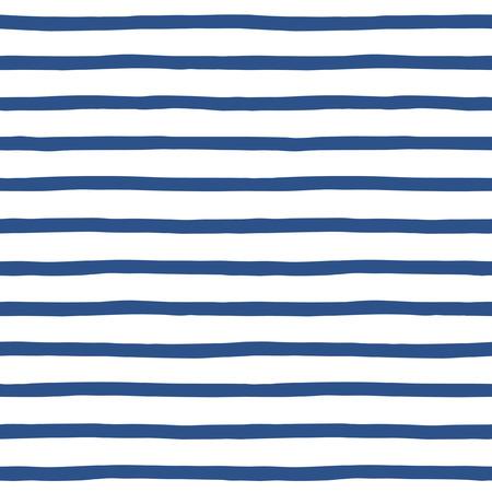 azul marino: Dibujado a mano marinero rayas sin fisuras vector patrón. Marina de fondo de rayas azul y blanco. Ornamento chaleco de marinero. Vectores