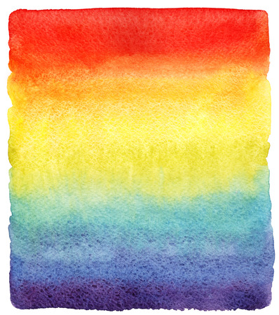 uneven edge: Rainbow watercolor gradient fill with rough edges. Hand drawn vivid watercolour background. Bright rainbow striped stains design template.