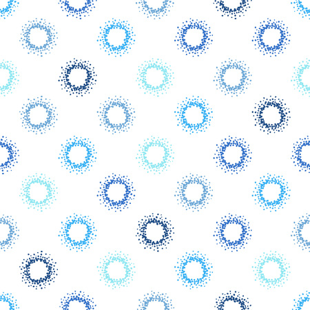 winter colors: Circles abstract seamless vector pattern. Winter colors - shades of blue and white. Grunge splash texture circles or dots. Hand drawn spots.