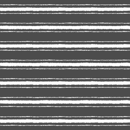 width: Crayon or chalk stripes of different width vector seamless pattern. White stripes on black backdrop. Striped monochrome background. Endless streaks on chalkboard.