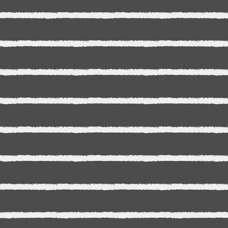 streaks: Crayon or chalk stripes vector seamless pattern. Brush white streaks with rough edges on black backdrop. Striped monochrome background. Endless stripes on chalkboard.