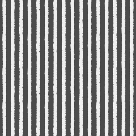 rough: Crayon or chalk stripes vector seamless pattern. Brush white streaks with rough edges on black backdrop. Striped monochrome background. Endless stripes on chalkboard.