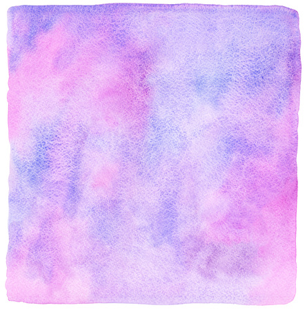 uneven: Abstract watercolor background with rough, uneven edges. Violet, lilac and pink light watercolour stains. Painted template.
