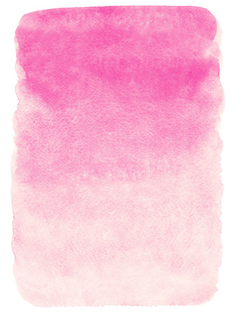 Soft pink gradient watercolor abstract background. Painted template. Gradient fill. Hand drawn watercolour Valentines day backdrop. Rectangle with rough edges.