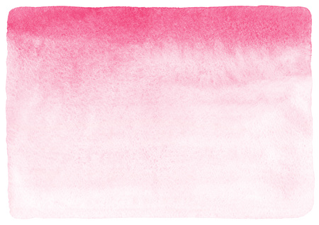 Pink and white gradient watercolor abstract background. Valentines day painted fill with rough, uneven edges and paper texture. Hand drawn watercolour Valentines day backdrop.