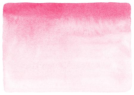 Rose et blanc gradient fond d'aquarelle abstraite. Saint Valentin peint remplissage avec des bords irréguliers bruts et la texture du papier. Main Valentines aquarelle tirées jour toile de fond.