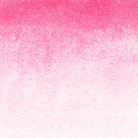 watercolor paper: Pink and white gradient watercolor abstract background. Hand drawn watercolour Valentines day backdrop. Painted template with rough paper texture. Gradient fill. Stock Photo