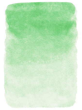 Light green watercolor background. Soft, pastel green watercolour gradient fill. Eco, nature backdrop. Rectangle with rough, uneven edges.