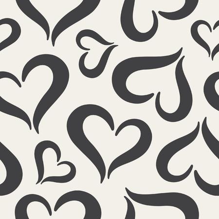 coeur noir et blanc coeurs seamless jour de la saint valentin fond noir