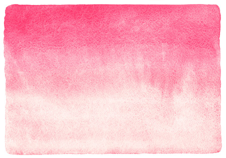 abstract pink: Pink watercolor abstract background with stains. Light red horizontal gradient fill. Valentines day watercolour texture. Hand drawn fill with rough, uneven edges. Stock Photo