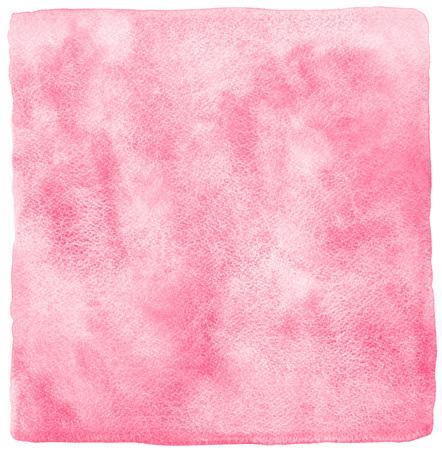 luz roja: acuarela abstracta de fondo color rosa o rojo claro con manchas. Textura valentines día de la acuarela. Dibujado a mano relleno con los bordes ásperos, desiguales y textura de papel. Foto de archivo