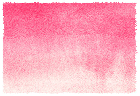 Pink watercolor abstract background with stains. Light red horizontal gradient fill. Valentines day watercolour texture. Hand drawn fill with rough, uneven edges. Stok Fotoğraf