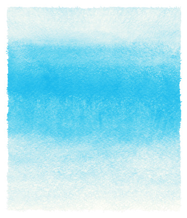 uneven edge: Sky blue watercolor abstract background with uneven edges. Painted template. Gradient fill. Hand drawn watercolour backdrop. Rough paper texture.