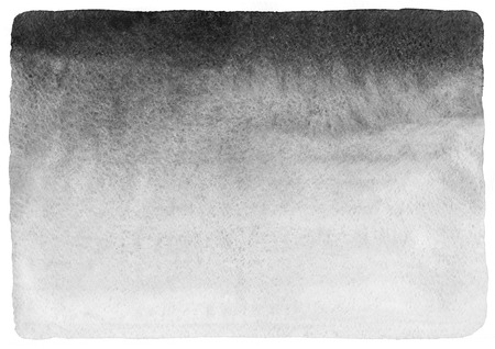 watercolor texture: Grey horizontal monochrome gradient watercolor background. Hand drawn template. Foggy, misty backdrop. Rough paper texture and uneven edges.