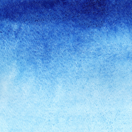 Marine or navy blue watercolor gradient fill background. Watercolour stains. Abstract painted template with paper texture. Stockfoto