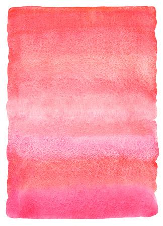 Acuarela de color rosa de fondo abstracto con las manchas a rayas. relleno de color rosa o rojo de la pendiente. Textura valentines día de la acuarela. Dibujado a mano relleno con los bordes ásperos y desiguales. Foto de archivo - 49588740