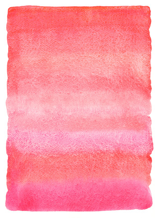 Pink watercolor abstract background with striped stains. Pink or red gradient fill. Valentines day watercolour texture. Hand drawn fill with rough, uneven edges.