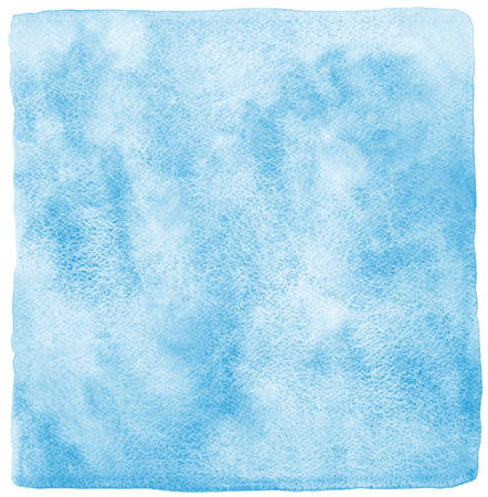 blue sea: Blue watercolor abstract background with uneven edges. Hand drawn painted template. Shades of blue watercolour stains. Rough paper texture.