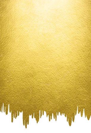 uneven edge: Gold background with liquid, melting uneven edge. gold template for your design. Rough golden texture.