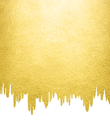 Gold Background With Liquid, Melting Uneven Edge. Gold Template ...