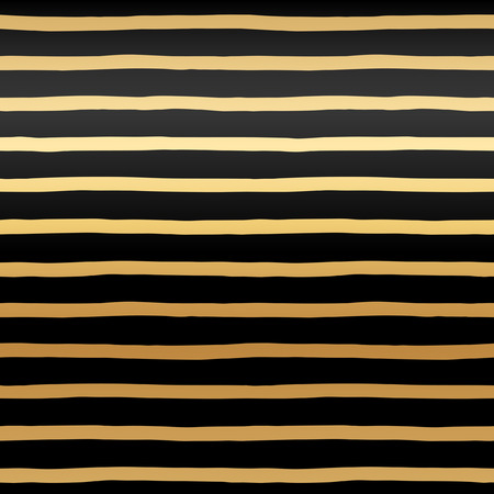 uneven edge: Golden stripes seamless vector pattern. Abstract striped background. Glittering gold streaks texture. Black uneven bars on golden gradient background.
