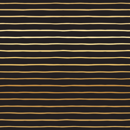pinstripes: Golden uneven stripes seamless vector pattern. Abstract striped background. Glittering gold pinstripes texture. Black bars on golden gradient background.