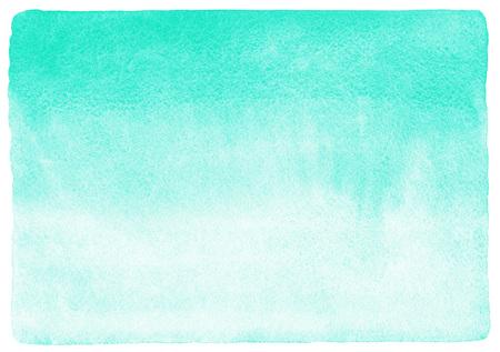 Mięta zielony gradient tło akwarela. Akwarela tekstur z plamy. Malowane tła poziomej. Ostre krawędzie.