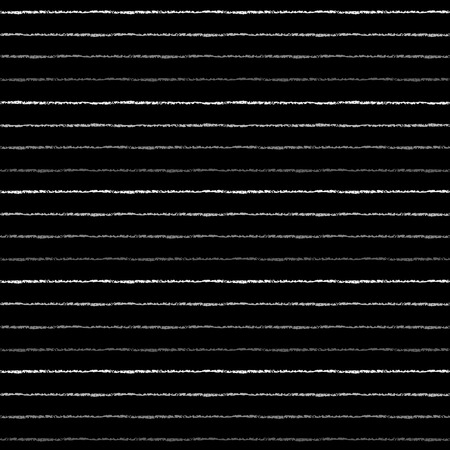 Silver or iron brush stripes seamless pattern. Thin silver or grey uneven bars on black background. Striped template. Steel pinstripes abstract texture.