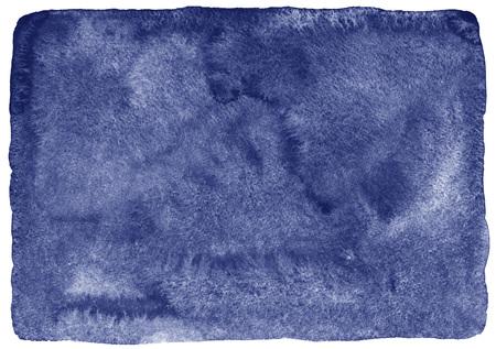 Granatowe plamy akwarela abstrakcyjne tło. Morze, ocean głębokie akwarela tekstury. akwarela Marine wypełnić nierównych krawędziach i szorstkiej tekstury papieru. Ciemnoniebieski ręcznie narysowanego szablonu. Zdjęcie Seryjne