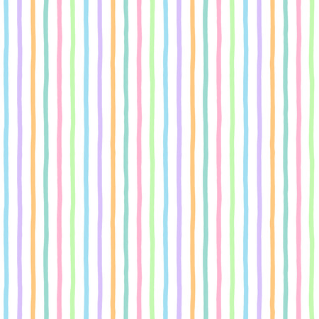 free hand: Multicolored stripes seamless vector pattern. Uneven free hand drawn colorful bars texture. Abstract colourful streaks background. Striped texture. Illustration