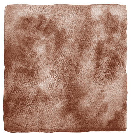 rounded edges: Coffee stains background. Brown watercolor fill with uneven edges and rough paper texture. Coffee watercolour template with rounded corners. Stock Photo