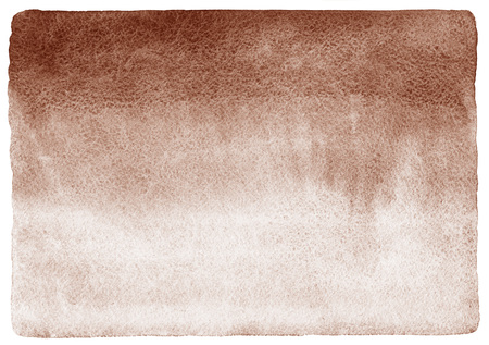 rounded edges: Coffee stains gradient background. Brown watercolor fill with uneven edges and rough paper texture. Coffee watercolour template with rounded corners.
