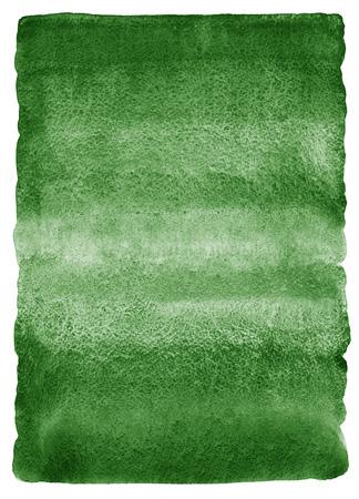 濃い緑色の水彩背景。グラデーションの塗りつぶし。深い緑水彩テクスチャです。自然、エコ テンプレート。大まかな、不均一なエッジで角が丸い 写真素材