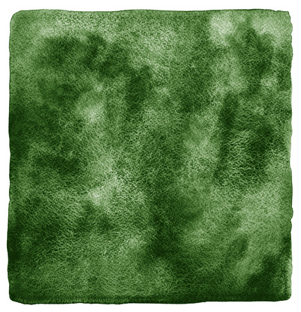 rounded edges: Dark green watercolor background. Deep-green texture with watercolour stains. Nature, eco template. Rough, uneven edges and rounded corners.