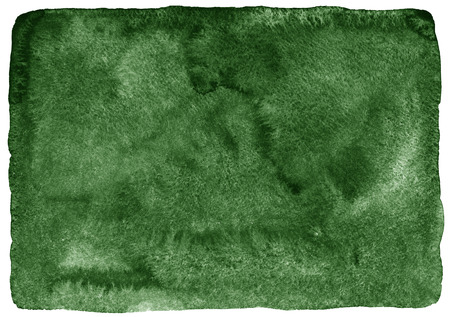Dark green watercolor background. Gradient fill. Deep-green  watercolour texture. Nature, eco template. Rough, uneven edges and rounded corners.