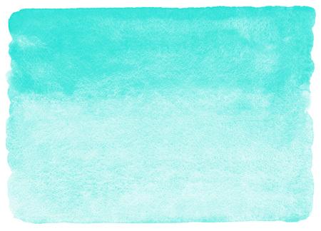 menta: Menta verde fondo de la acuarela. la textura de acuarela con manchas. Fondo pintado del gradiente horizontal. bordes irregulares, rugosas.