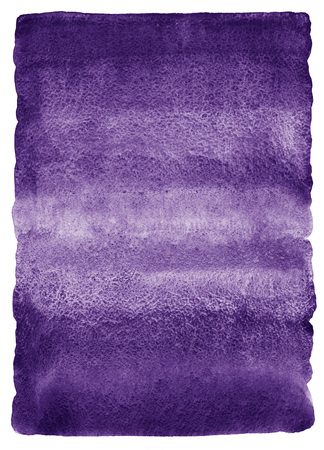 rounded edges: Blueberry or dark violet watercolor background. Watercolour texture with stains. Painted gradient background. Rough, uneven edges and rounded corners. Stock Photo