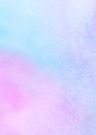 Colorful watercolor stains background. Light pastel colors. Mint green, pink, blue. Watercolour template for your design. Colourful neon texture.