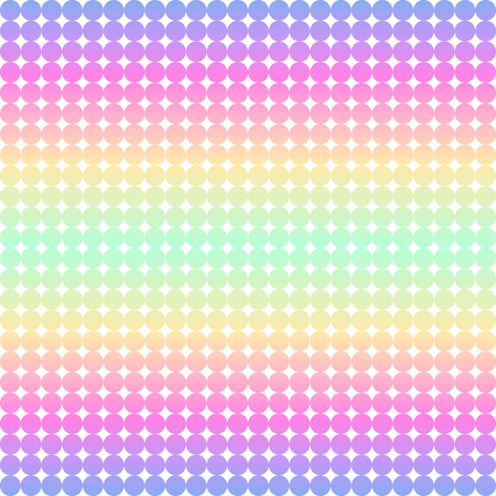 retro circles: Bright retro 80s or 90s geometric striped background. Holographic stripes texture made of tiny circles. Gradient colorful vintage template for design. Can be used as seamless pattern.