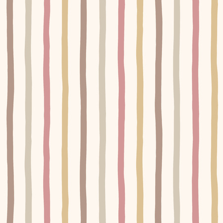 ornamentation: Hand drawn retro stripes seamless pattern. Brown, sepia coffee colors striped background. Uneven bars texture. Vintage background.
