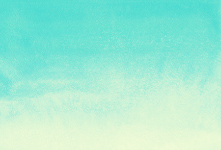 gradient d'aquarelle de fond abstrait. vert menthe et jaune modèle peint. Été, toile de fond de vacances. remplissage dégradé vertical. Hand drawn aquarelle texture.