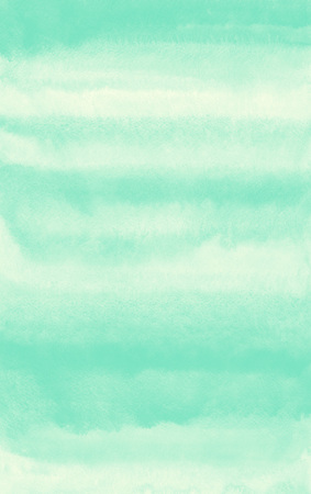 streaks: Mint green striped watercolor background. Painted gradient template. Watercolour texture with stains and streaks.