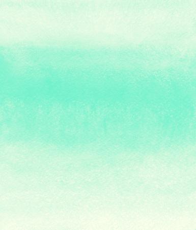 ミント グリーン ストライプの水彩背景。塗装のグラデーション テンプレート。汚れと縞の水彩テクスチャです。