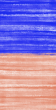 ultramarine: Two colored painted background. Ultramarine blue and soft pink. Bright hand drawn template with brush strokes, streaks or stripes. Rough paper texture. Stock Photo