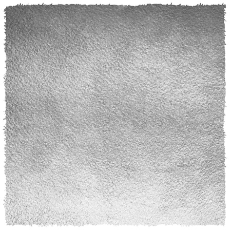 uneven edge: Silver or iron square background with uneven, rough edge. Metal texture. Silver or steel paper template for your design. Silver foil monochrome background. Industrial texture. Stock Photo