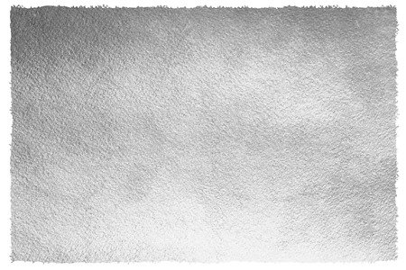 Silver or iron background with uneven, rough edge. Metal texture. Silver or steel paper template for your design. Silver foil monochrome background. Industrial texture.