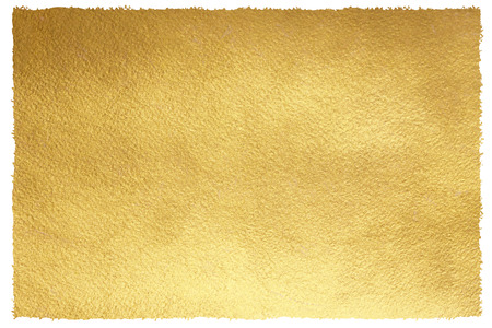 Golden background with uneven, brush drawn edges. Gold texture. Luxurious paper template for your design.